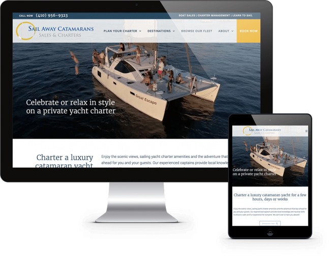 Portfolio Yacht Charter Web Design