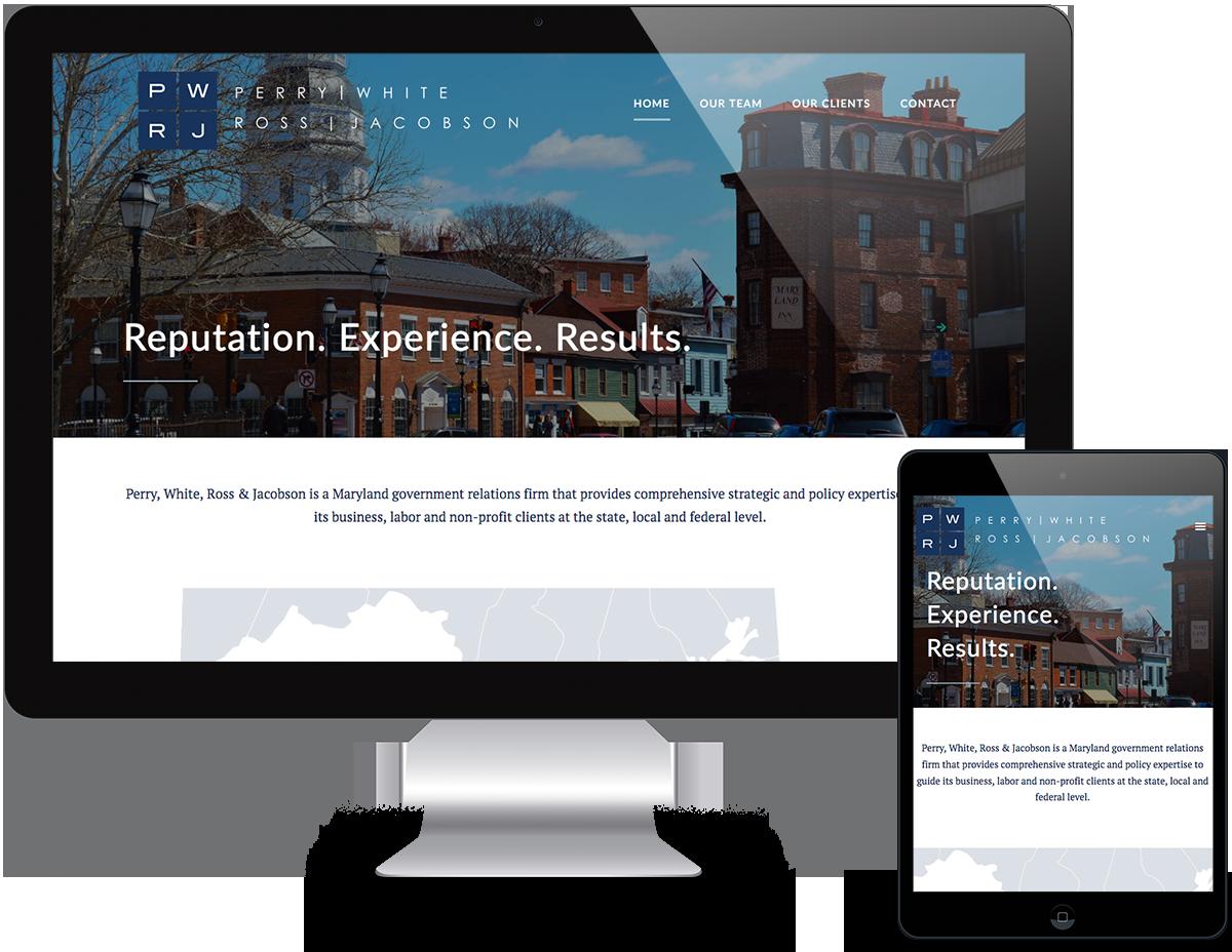 Portfolio Government Relations Web Design