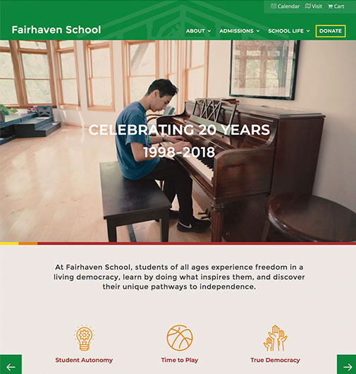 Bold Web Design for a Bold School