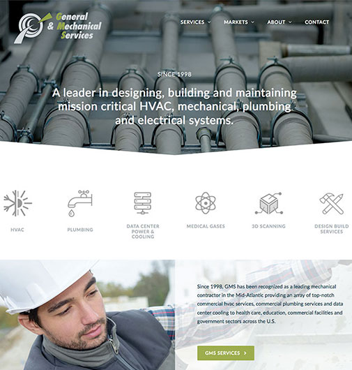 Website Development for a Commercial HVAC Company