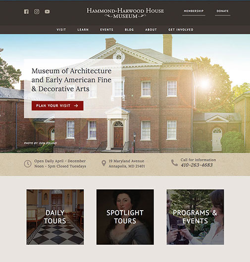 New Website & Event Management for a Historic Museum