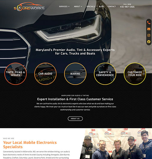 Website Development for Car Audio & Tinting Company