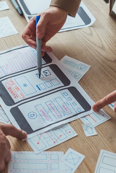 designers mapping customer journey